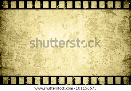 Old paper with film strip background