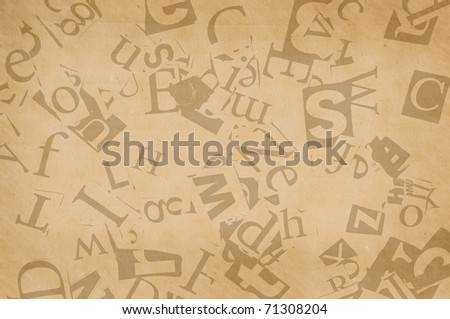 old paper with letters, background