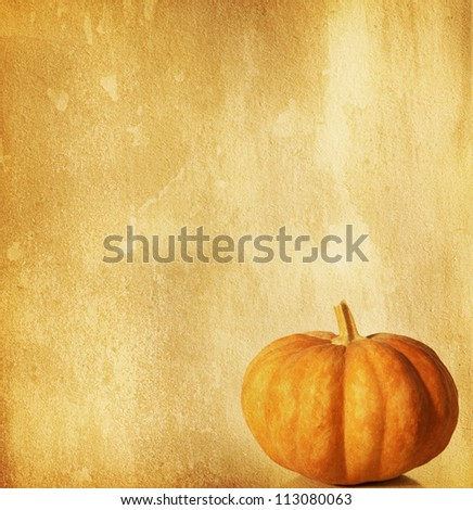 old paper with pumpkin
