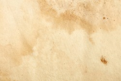 Old paper with sepia stains and mold texture background