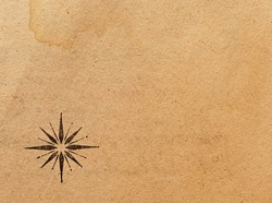 Old paper with wind rose