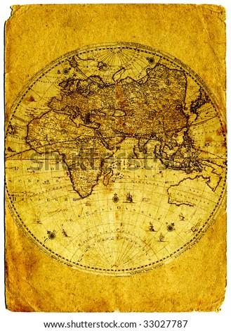 Old paper world map retro ancient Armenia.