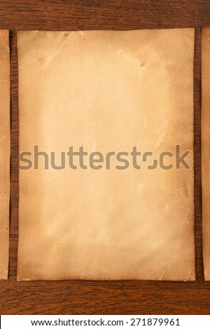 old papers texture on brown background.