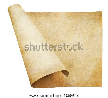 old parchment paper scroll