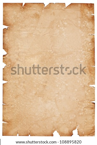 Old parchment paper with shabby edges
