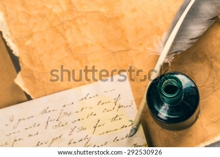 Old, Parchment, Quill Pen.