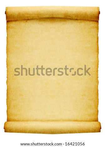 Old parchment with place for your text or image.