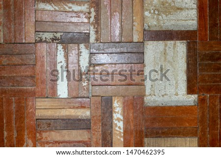 old parquet floor ,Dirty floor,Damaged floor #1470462395