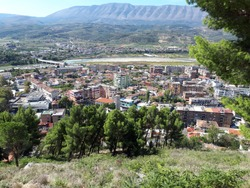 Old Peja city taken from mountains
