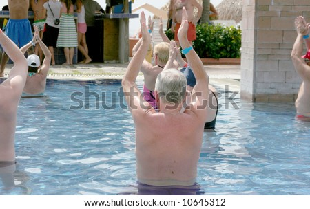 Old people in swimming pool stock photo 10645312 for What to do with old swimming pool