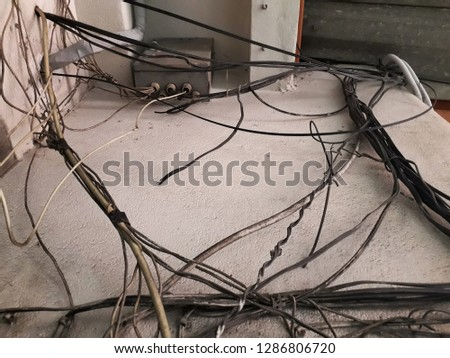 old phone line and box wiring is not mess lack of maintenance