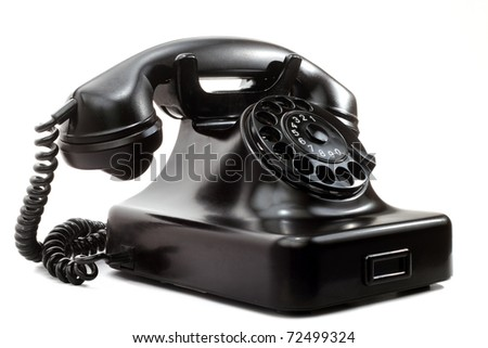 Old phone - vintage phone - stock photo