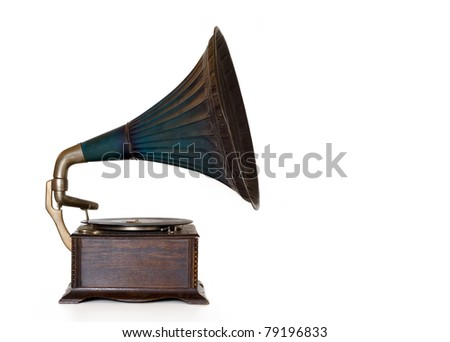 Old Phonograph (Gramophone) player.