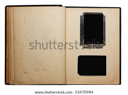 old photo album isolated on white background