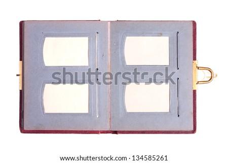 Old Photo album over white background #134585261