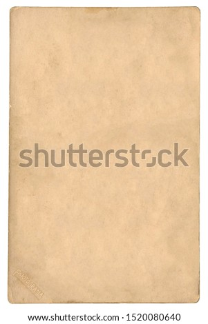 Old photo-cardboard background with illustrative example stamp #1520080640