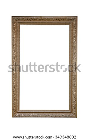 old photo frame, isolated on white #349348802