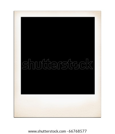 Old Photo Frame isolated on white.