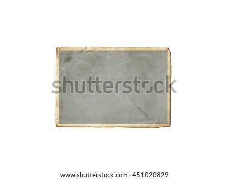 Old photo frame isolated on white background #451020829