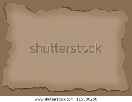 Old photo frame or paper - stock photo