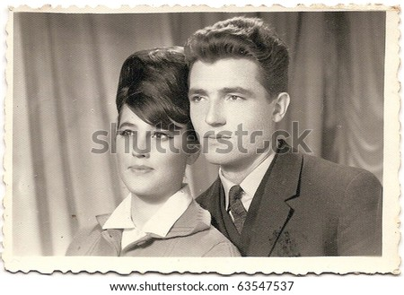 old photo of a handsome couple