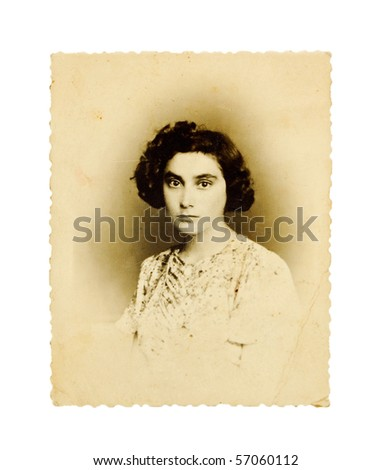 old photo of a woman