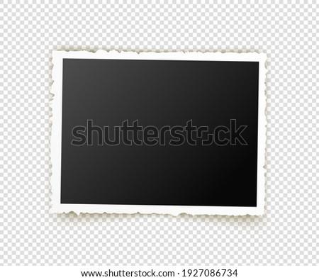 Old photo. Retro image frames. Empty snapshot frame template. illustration isolated on background. ストックフォト ©