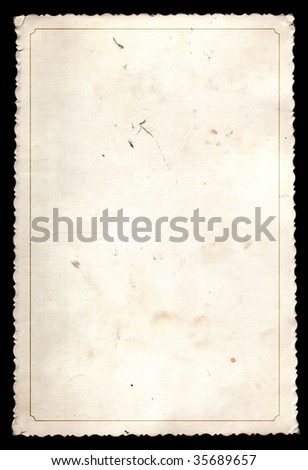 Old photos with a border isolated on a black background