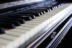 Old piano closeup