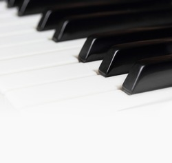 old piano keys as acoustic or electronic piano music background