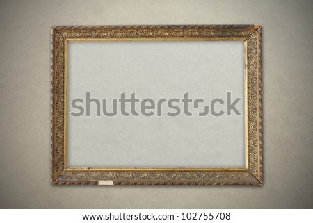 old picture frame, gold plated