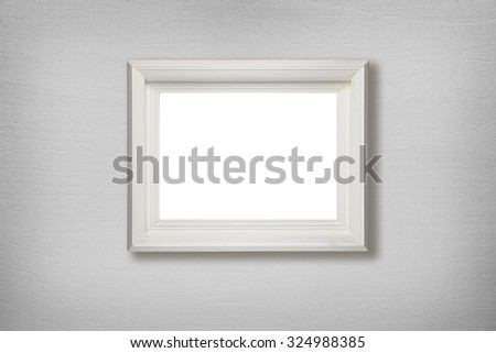 Old picture frame hanging on wall | EZ Canvas
