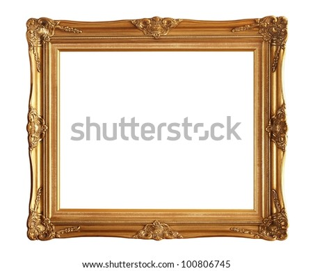 Old picture frame isolated on white background #100806745
