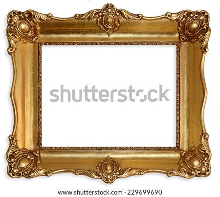 Old picture frame isolated on white background #229699690