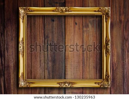 Old Wooden Picture Frames Old Picture Frame on Vintage