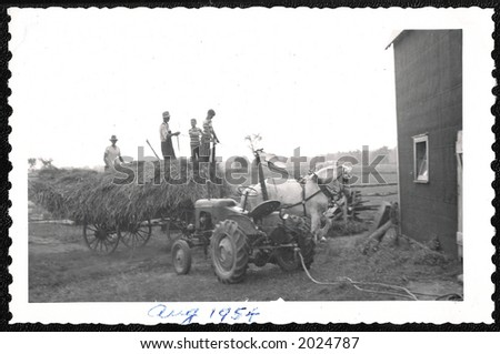 Old picture from a farm