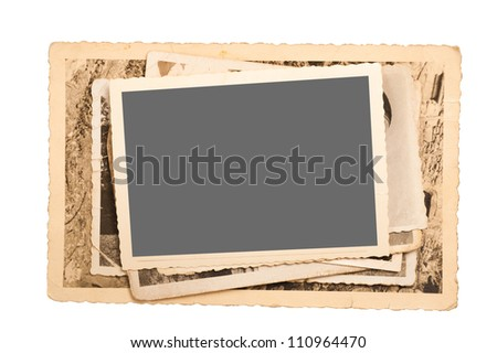 old pictures frame isolated on white