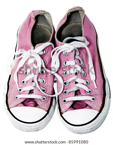 old pink pumps - stock photo