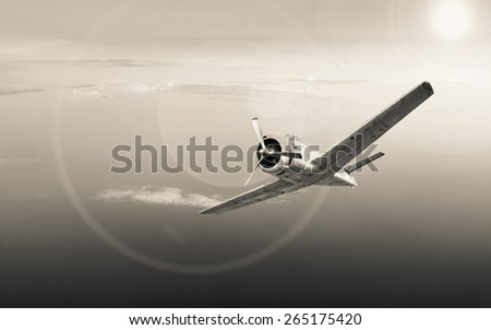 old plane over the sea.