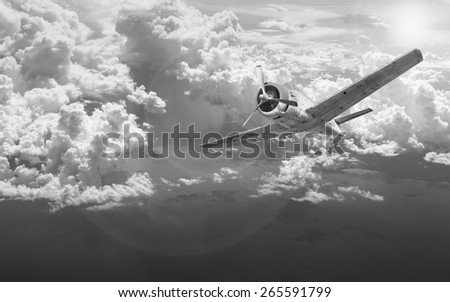 old plane over the sea
