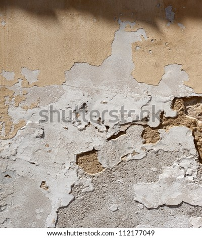 Old plaster wall structure, background