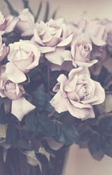 Old plastic flowers