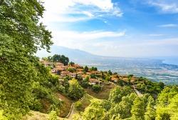 Old Platamonas village, tourist destination in the Olympus Mountain region of Greece.