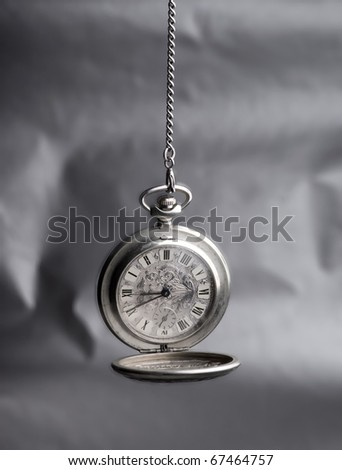 old pocket watch, minute, time runs without stops