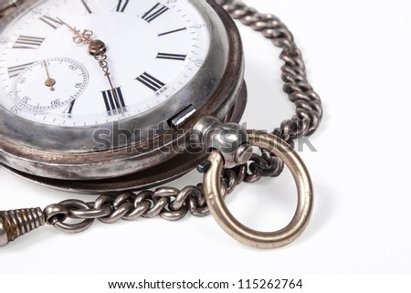 old pocket-watches with a chain