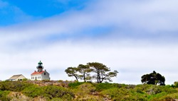 Old Point Loma Lighthouse at the Cabrillo National Monument - San Diego - USA