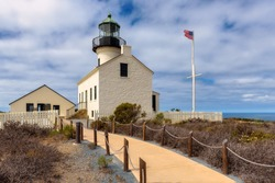 Old Point Loma Lighthouse in San Diego, California