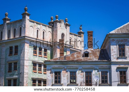 Old Polish castle in Nahirianka village near Yahilnytsya village in Ukraine #770258458
