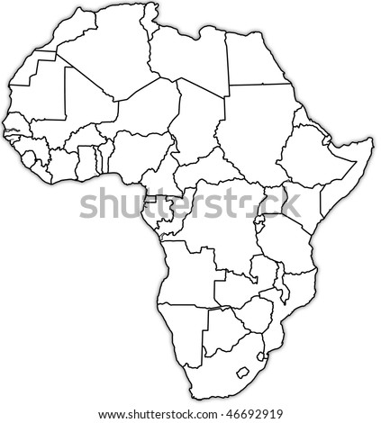 old political map of africa