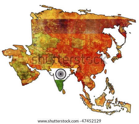 maps of asian countries. political map of asia with